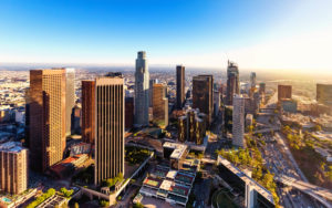 Homepage - Downtown LA View of a Bright Blue Sky